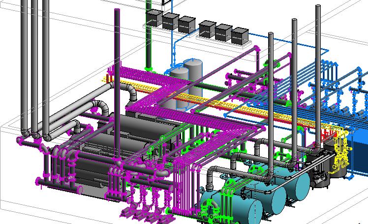 بسته آموزشی مدلینگ صفر تا صد موتورخانه با  Revit MEP